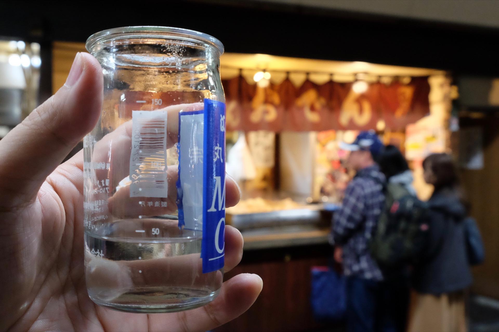 赤羽のおでん立ち飲み、丸健水産で丸眞正宗 マルカップ、そして「だし割り」|日本酒テイスティングノート