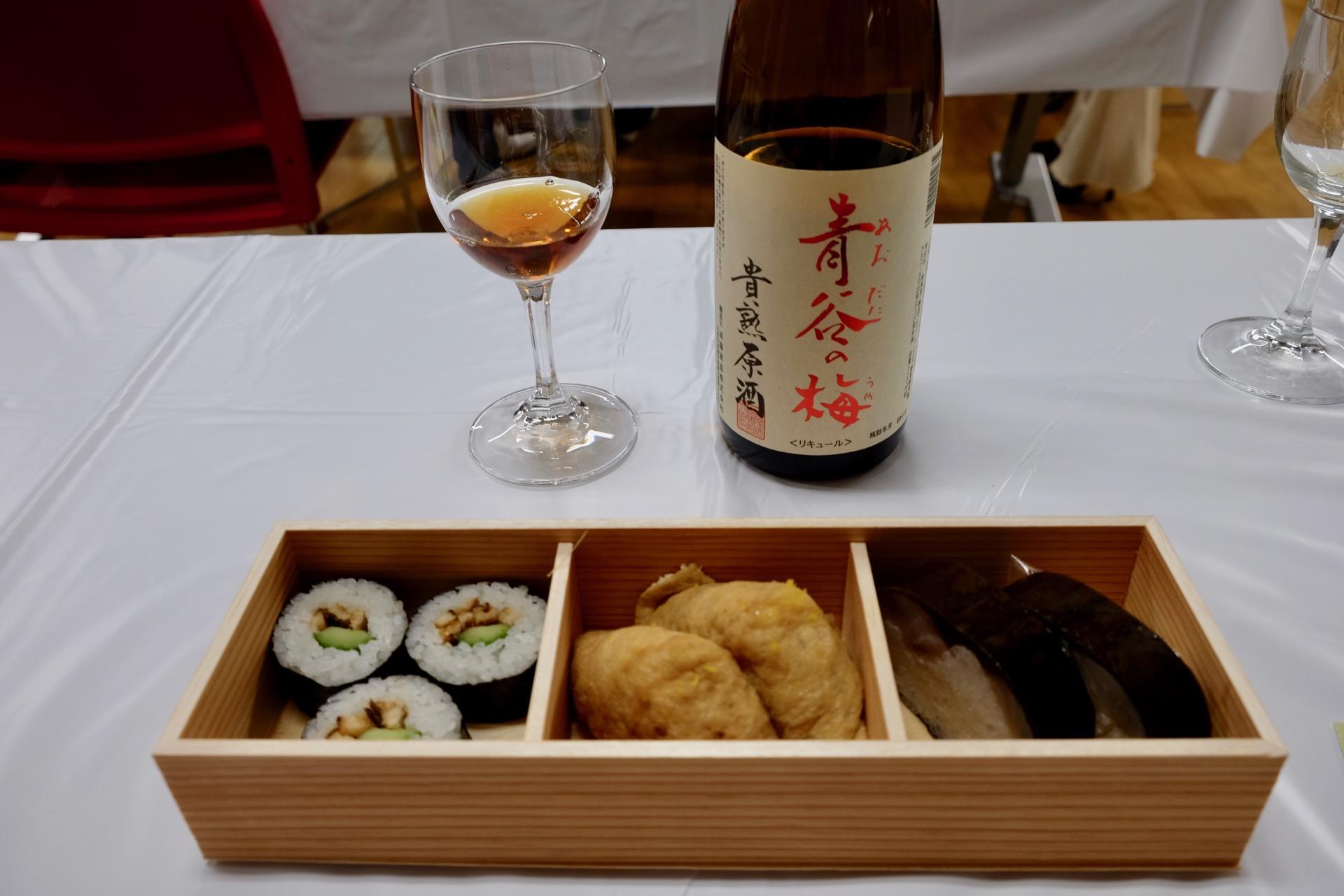 祇園いづうの寿司と和リキュールのペアリング|FRUIT SAKE Party