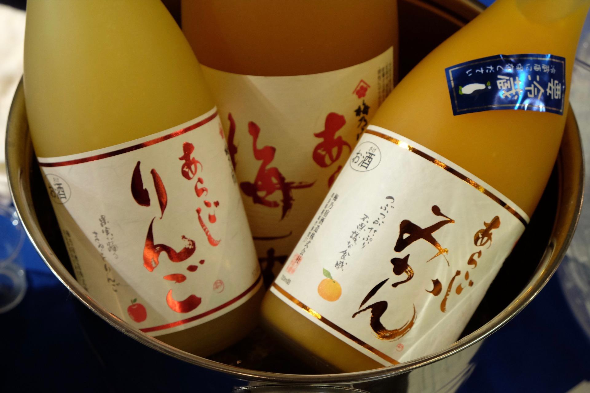 梅乃宿の和リキュールを飲み比べ|FRUIT SAKE Party