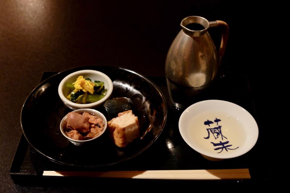 竹鶴 純米清酒 秘傳 とアテ