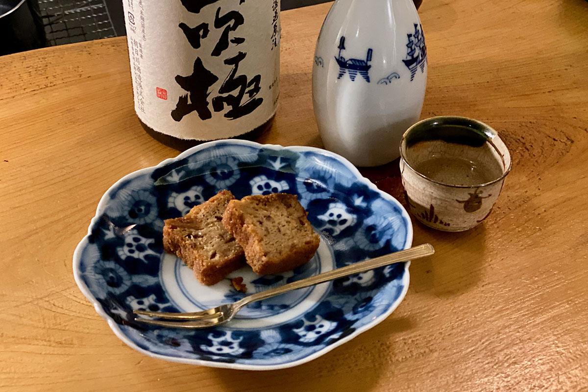 和菓子と日本酒をあわせる|山吹極と薫風焼浮島・花巴 山廃✕水酛と白羊羹