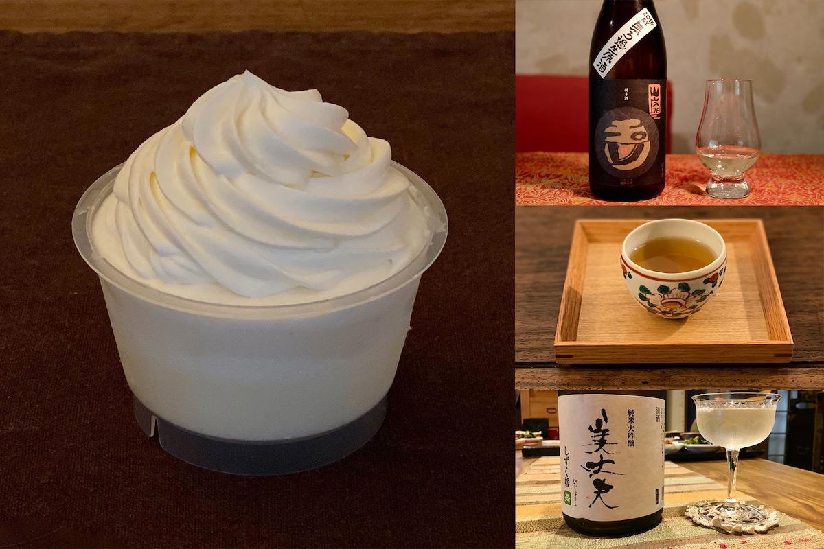 コンビニスイーツと日本酒のペアリング