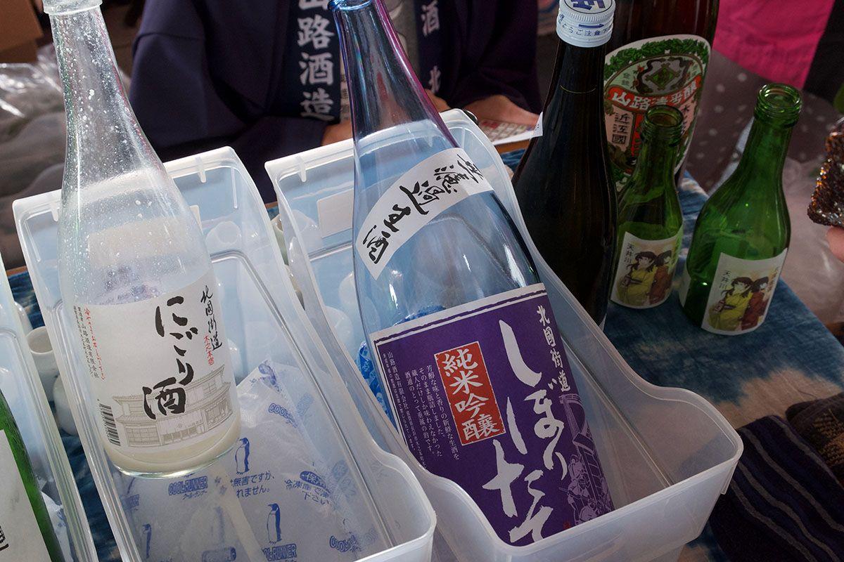 浜大津朝市で! 北國街道「しぼりたて 純米吟醸」「にごり酒」「桑酒」日本酒テイスティングノート