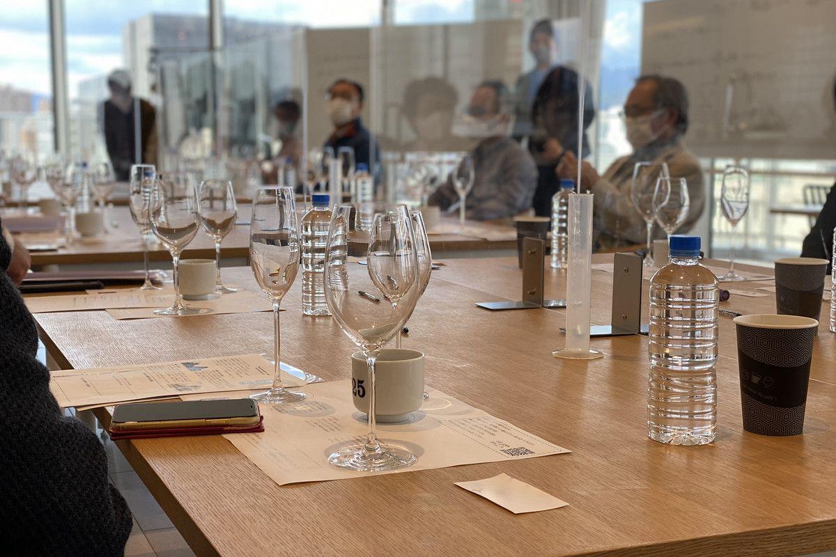 リースリンググラスで甘酸っぱいお酒、ボルドーグラスで熟成山廃「グラスで極める富翁」イベントレポート