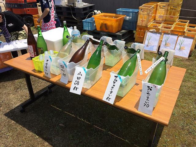 いろいろな米を使った川鶴のお酒