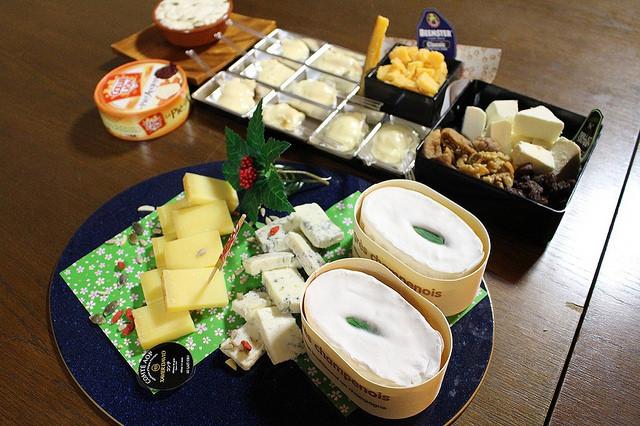 日本酒レッスンでご用意したチーズ6種