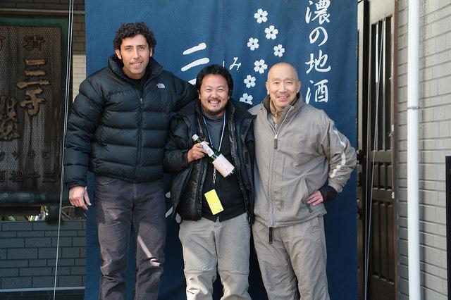 三千櫻山田社長と和田さん、ミゲルさん