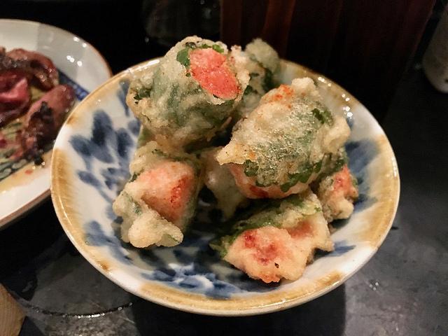 辛子明太子と大葉の天ぷら