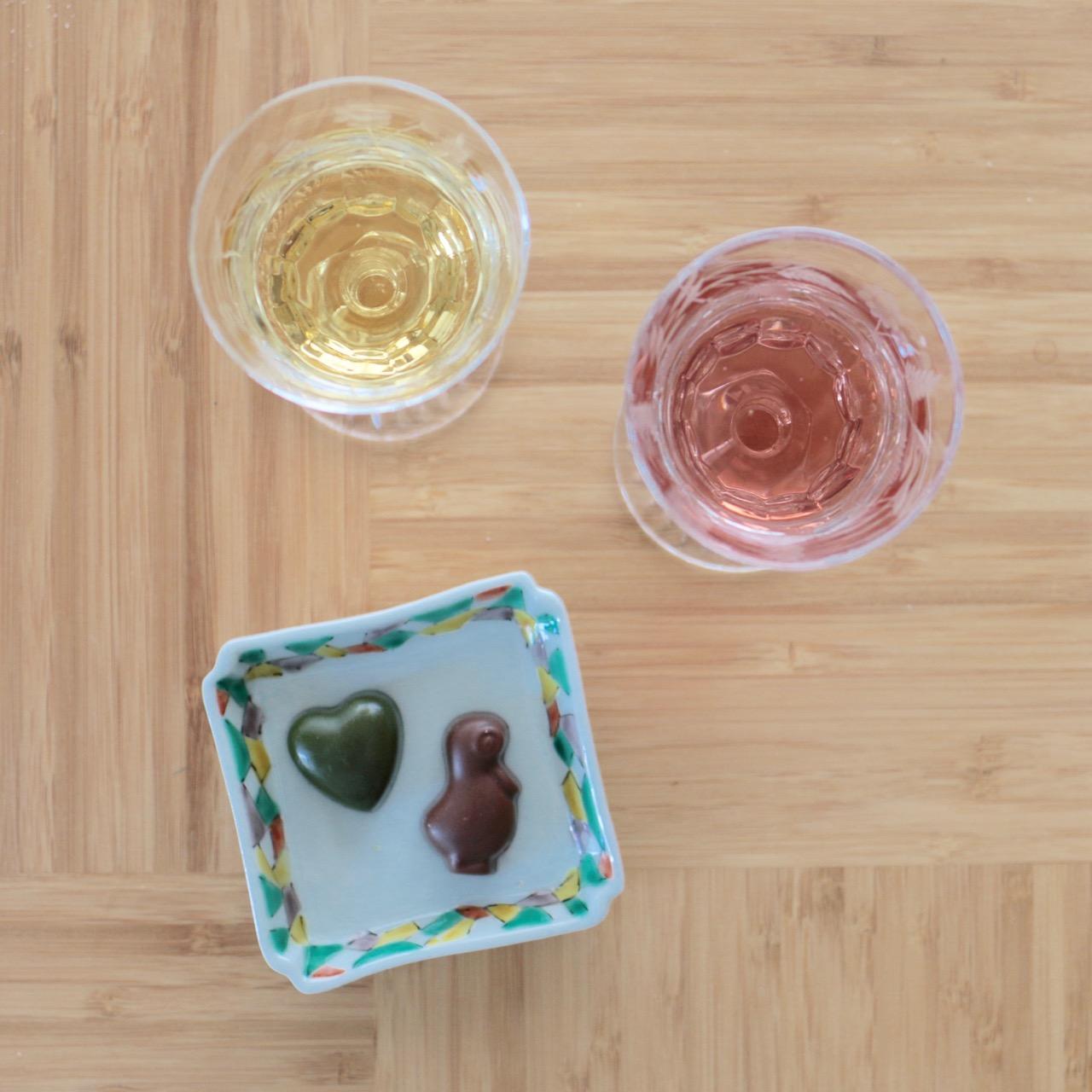 チョコレートと日本酒のマリアージュ、伊根満開と壺中重星霜